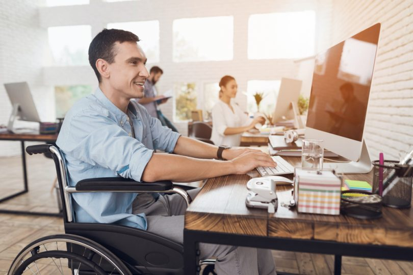 Disabled person working